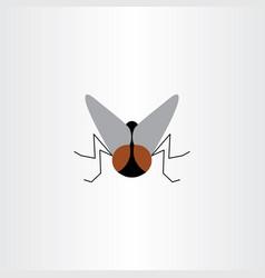 fly insect logo symbol sign vector image