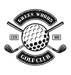 golf club black emblem in vintage style vector image