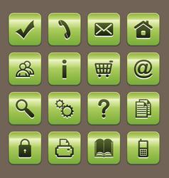 Green buttons vector