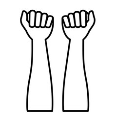hands human raised icon vector image
