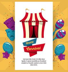 happy carnival design vector image