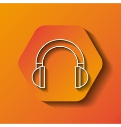 headphone icon image vector image