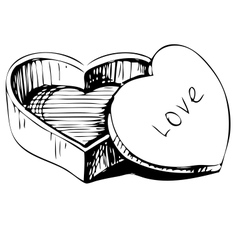 Heart shaped box vector