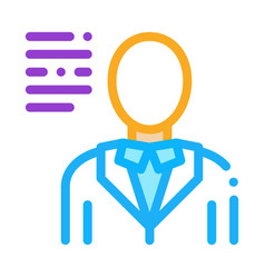 human silhouette icon outline vector image