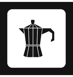 Iron electric kettle icon simple style vector