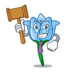 Judge bell flower mascot cartoon vector
