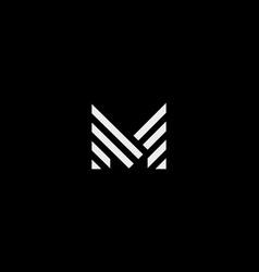 letter m line logo design creative vector image
