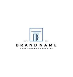 Letter rb law logo design vector