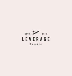 Leverage people human logo hipster retro vintage vector