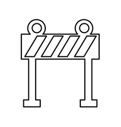 Light barrier construction icon vector