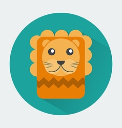Lion Baby Animal Icon vector image
