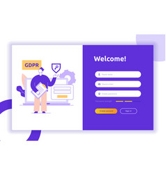 login ui ux design concept and vector image