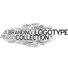 Logo word cloud concept vector