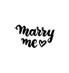 marry me handwritten lettering vector image
