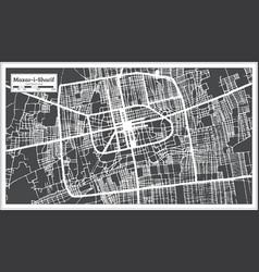 Mazar-i-sharif afghanistan city map in black vector