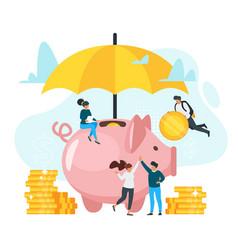 Money insurance flat vector