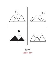 Mountains Icon Symbol vector image