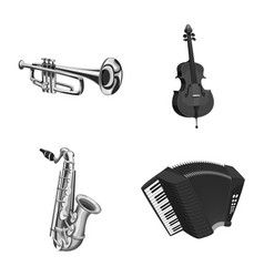music and tune sign set of vector image