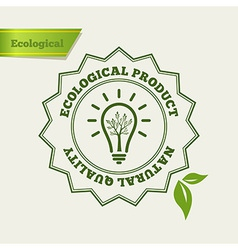 Natural quality stamp vector image vector image