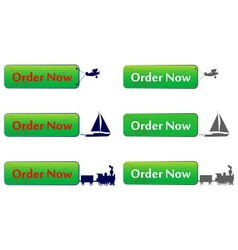Order Now Button vector image