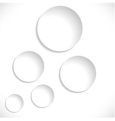 paper circles sticker isolated on white vector image