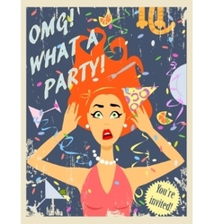 Party invitation design vector