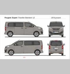 Peugeot expert traveller standard l2 2016-present vector