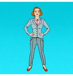 Pop Art Confident Successful Business Woman vector