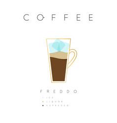 poster coffee freddo white vector image