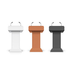 realistic detailed 3d different types podium vector image