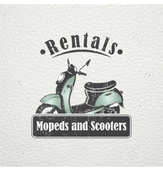 Rent sale and repair - bicycles mopeds and vector image