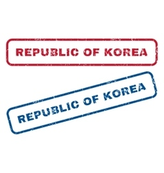 Republic Of Korea Rubber Stamps vector image