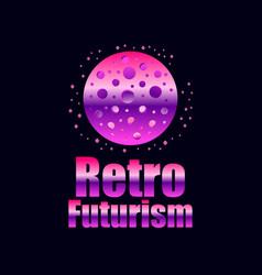 Retro futurism in 80s retro style space travel vector