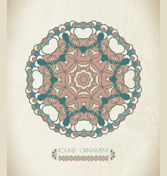 round ornament art vector image