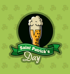 saint patricks day beer card vector image