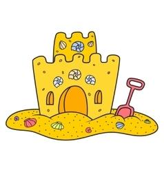 sand castle vector image
