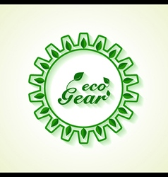Save nature concept with leaf and gear vector