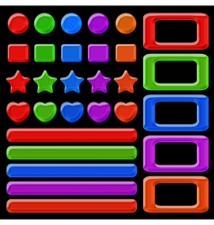 set colorful buttons vector image