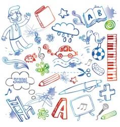 Set doodles vector