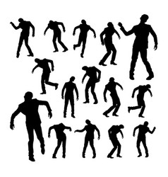 silhouettes dancing man vector image