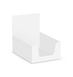 Small display box mock up - high angle shot vector