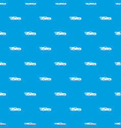 sport car pattern seamless blue vector image
