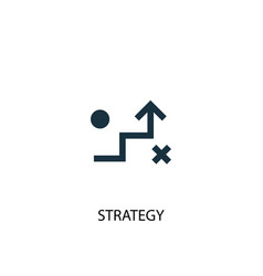 strategy icon simple element vector image