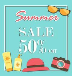 summer sale template banner illurstrator design vector image