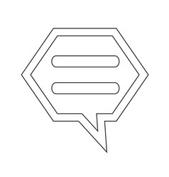 talking bubble chat icon vector image