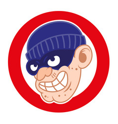 thief bad face vector image