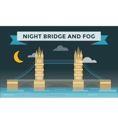 Tower bridge vector image