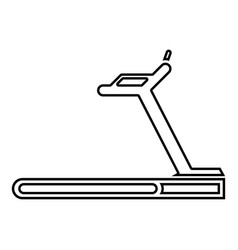 treadmill machine icon black color outline vector image