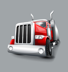 Vintage red classic truck vector