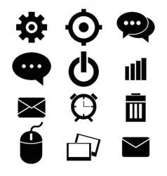 web design icon set vector image